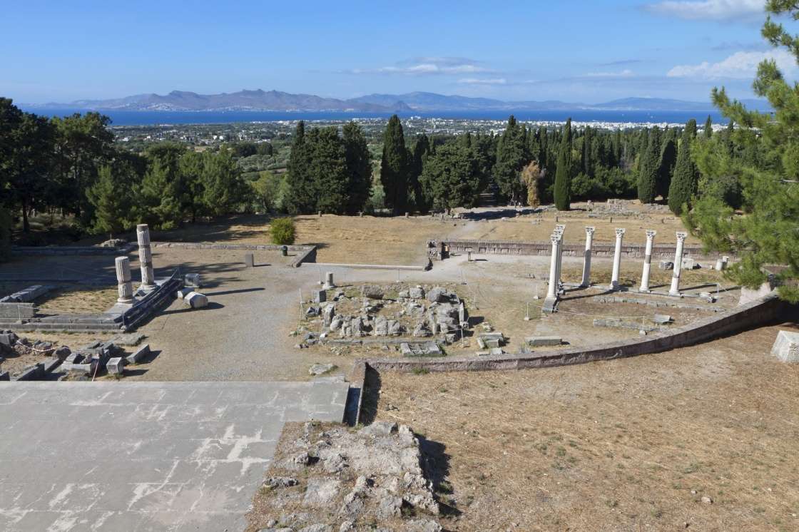 'Ancient site of Asclepeion at Kos island in Greece' - Kos