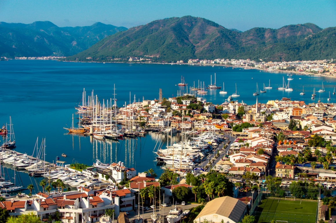 'View of Marmaris harbor on Turkish Riviera.' - Kos